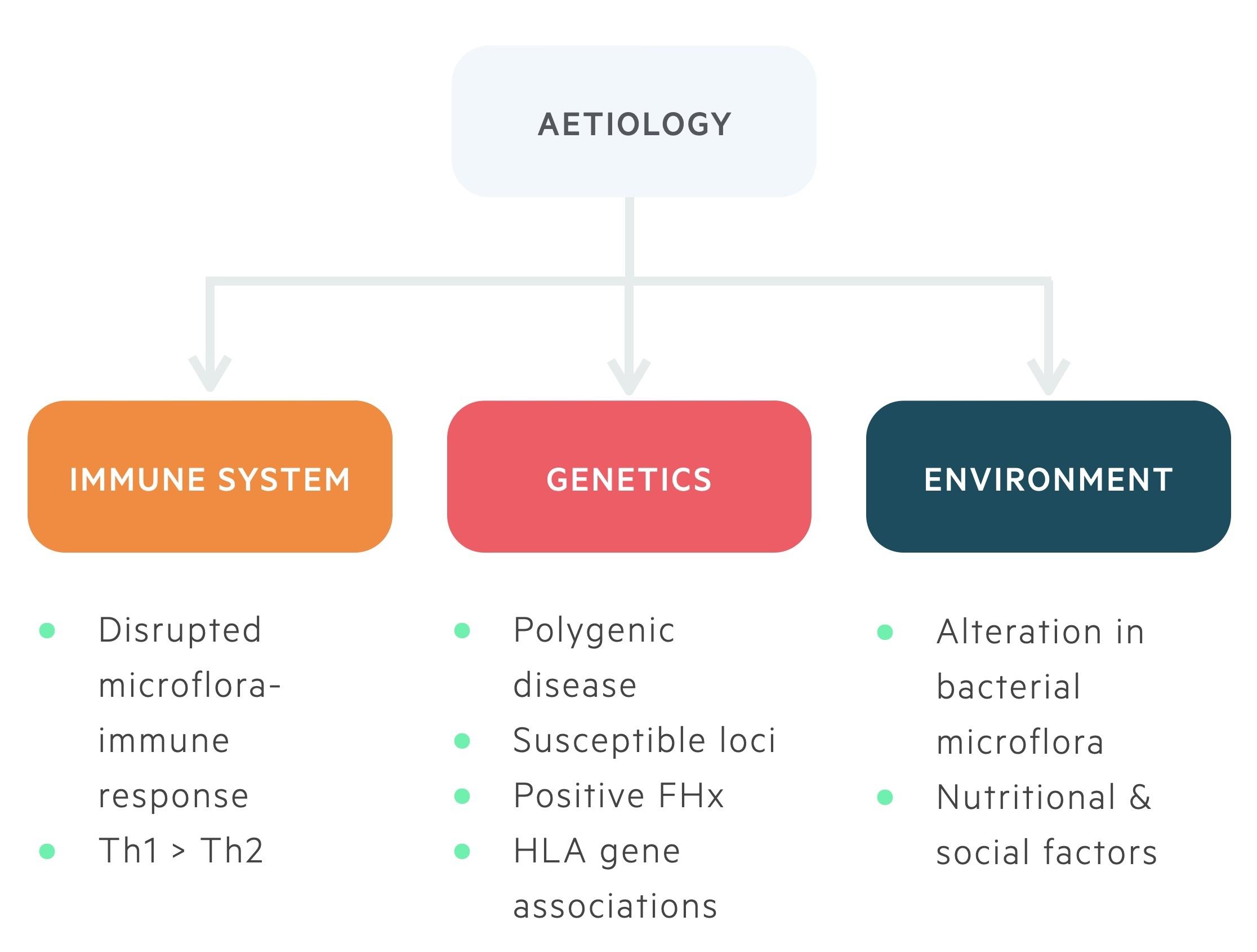 Aetiology of inflammatory bowel disease (UC/CD)