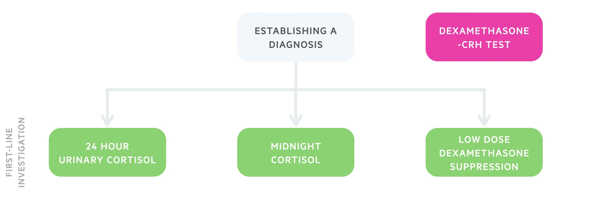 Establishing a diagnosis of Cushing's syndrome