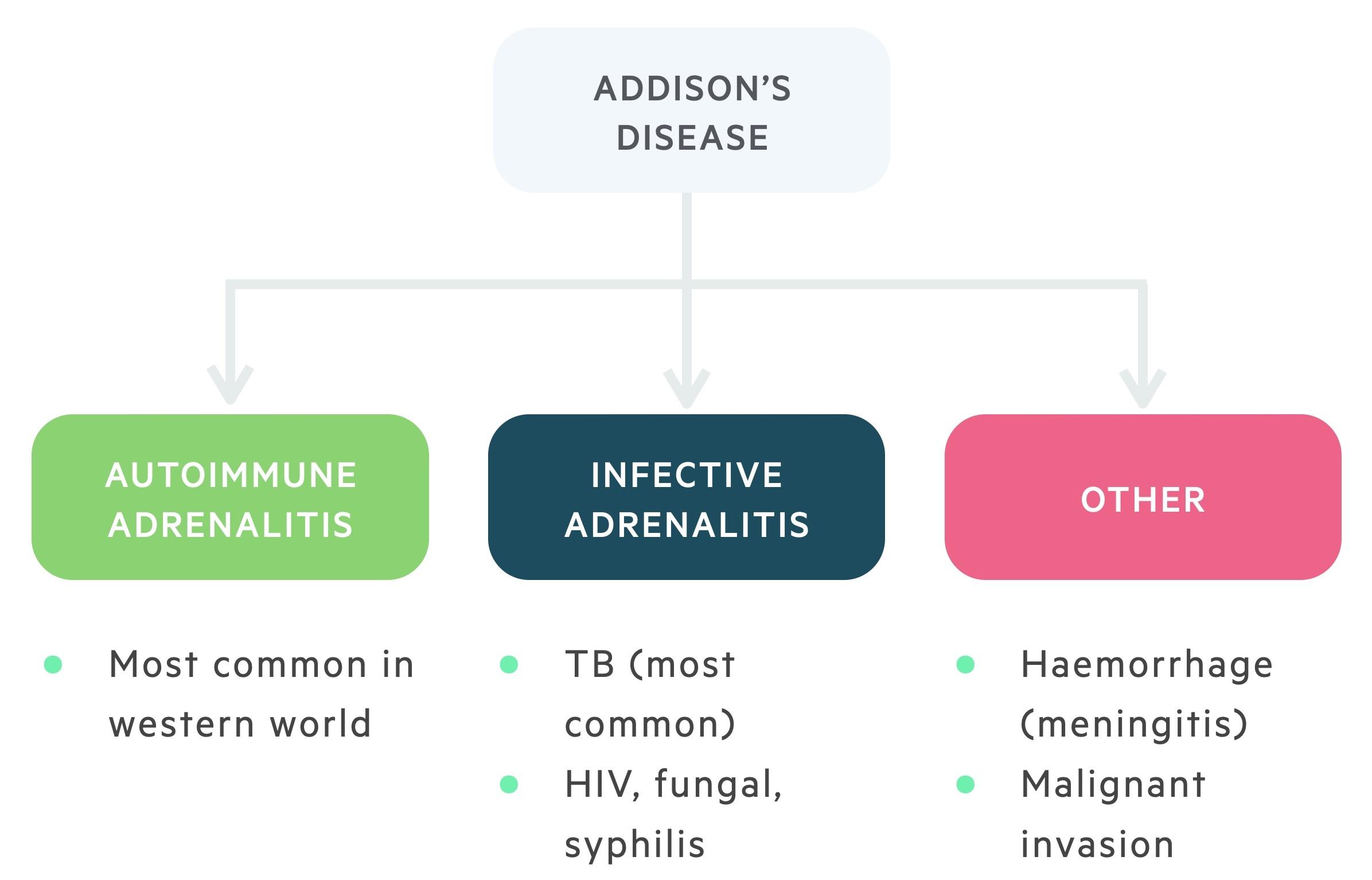 Aetiology of Addisons disease