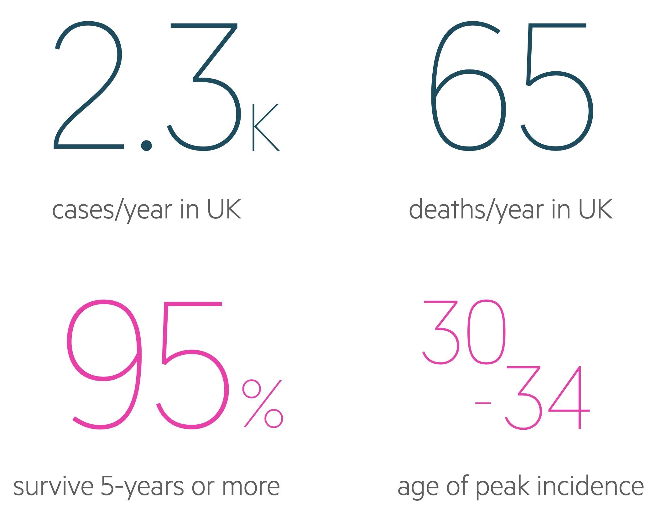 Testicular cancer statistics