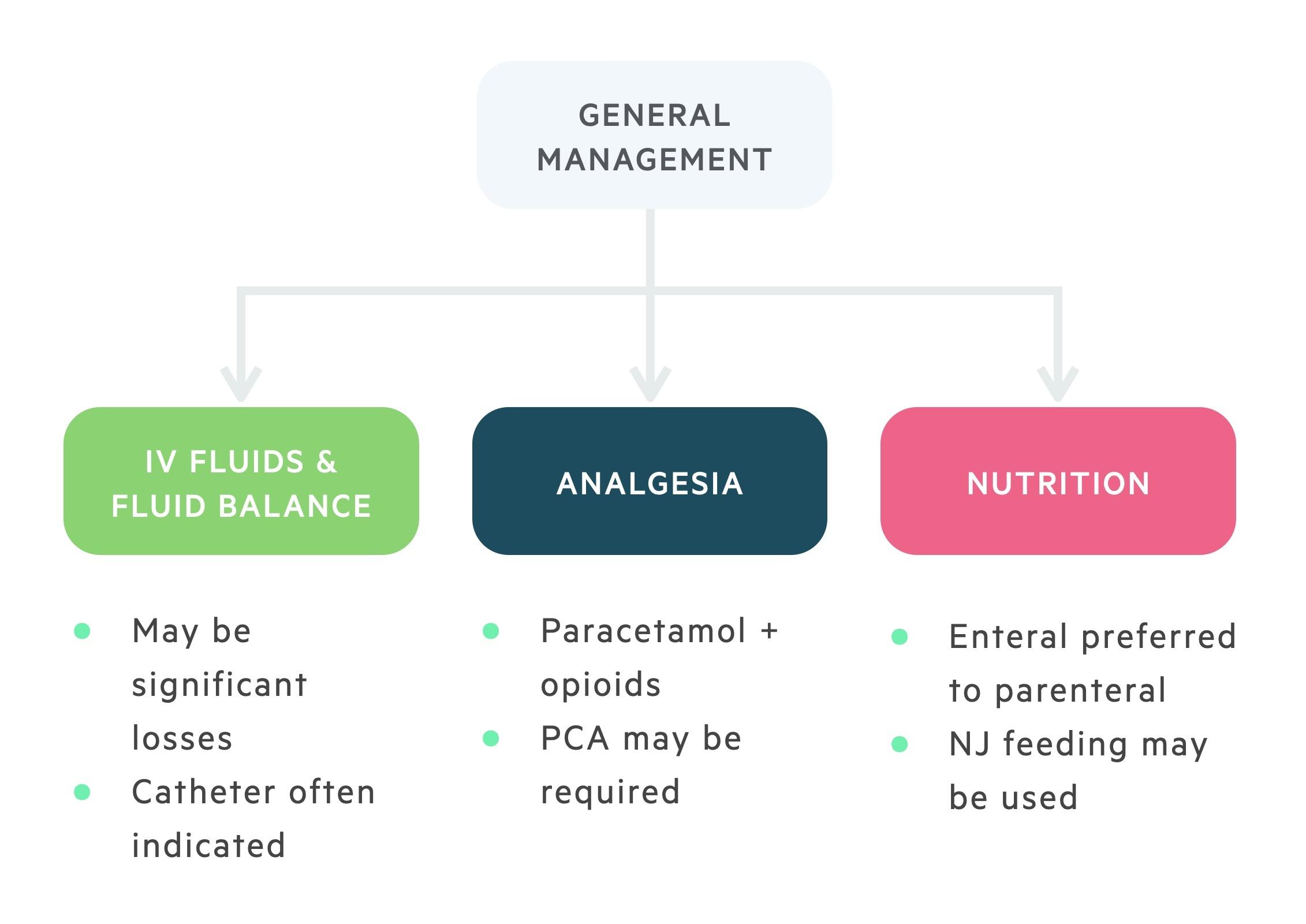 General management of pancreatitis