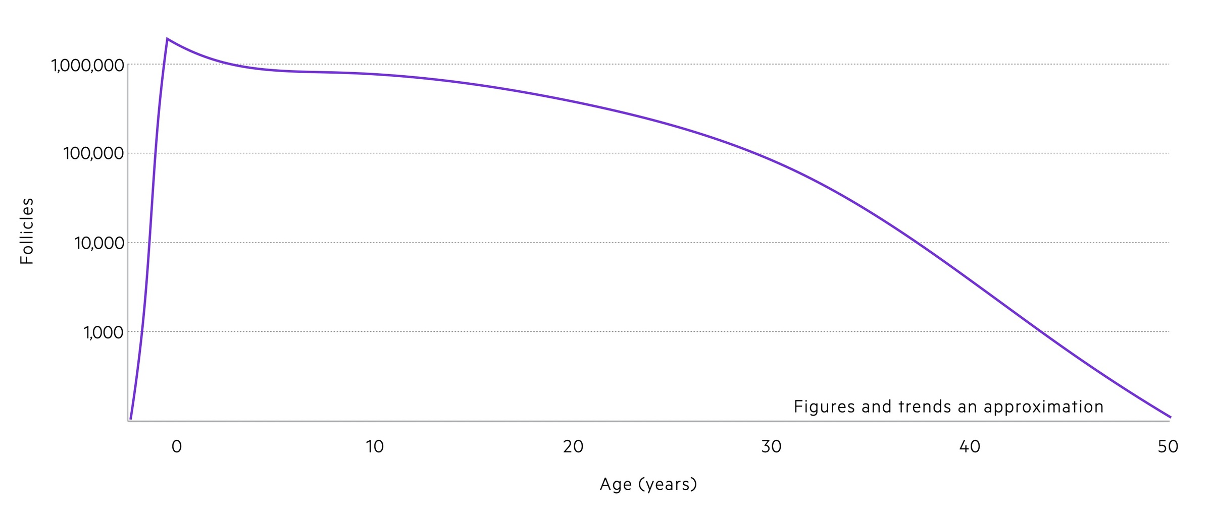Trends in follicles with age