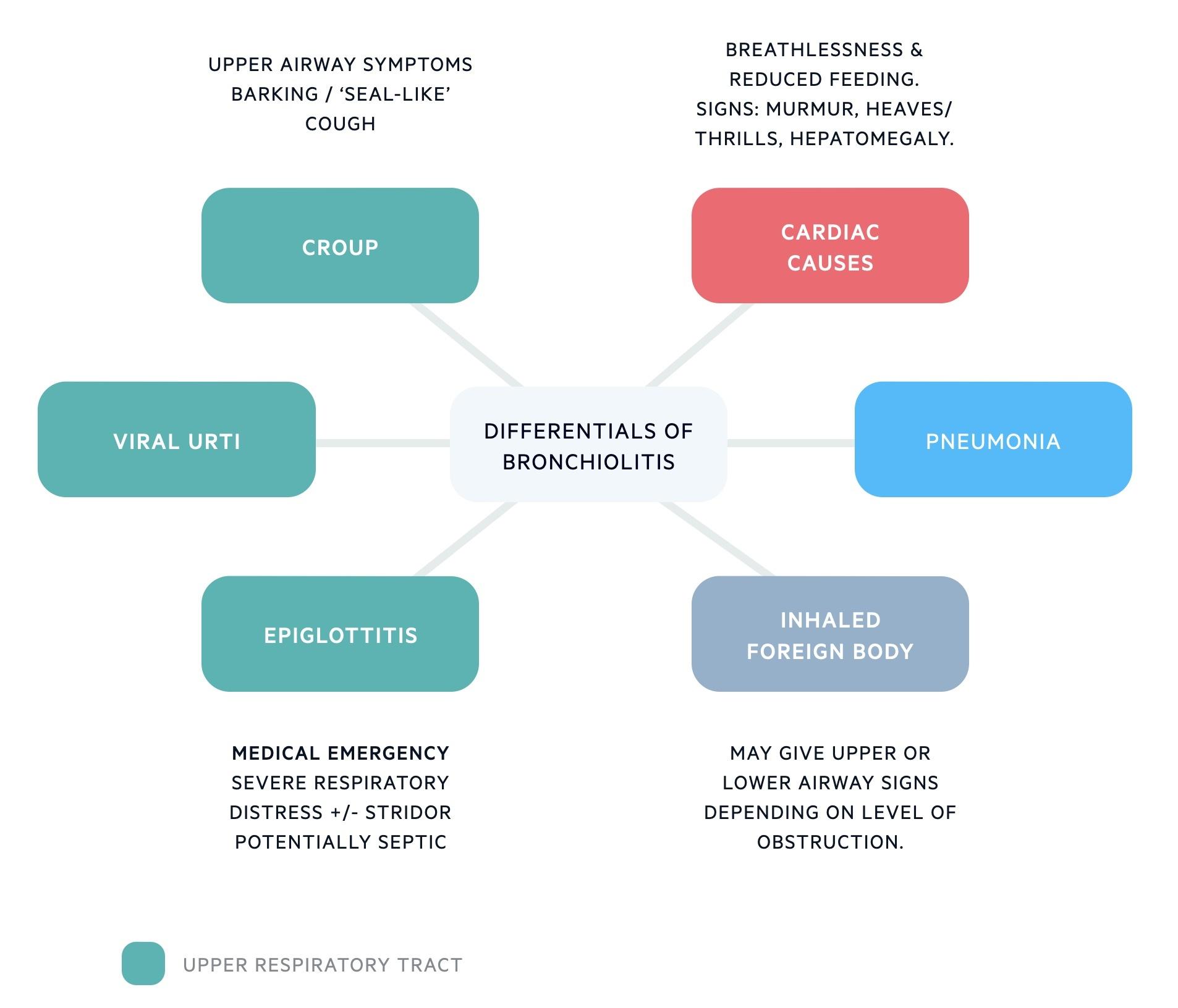 Differentials of bronchiolitis